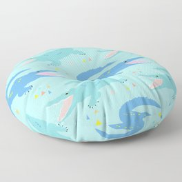 Nile Crocodile Rock Floor Pillow