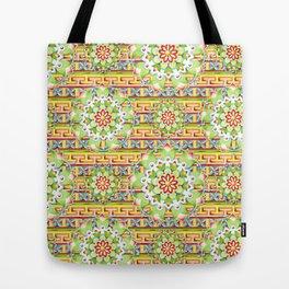 Fiesta Rainbow Mandala Tote Bag