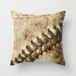 Vintage Baseball Memories 3 Throw Pillow