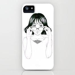 Girl in glasses iPhone Case