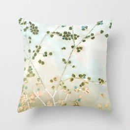 mosaica glitterati in blue + gold Throw Pillow