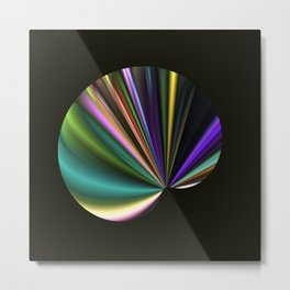A Fan in Abstract Metal Print