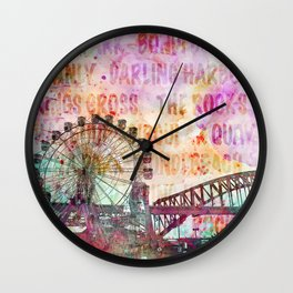 Sydney Luna Park Ferris Wheel Wall Clock
