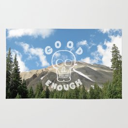 Good Enough - Demotivational Poster Rug