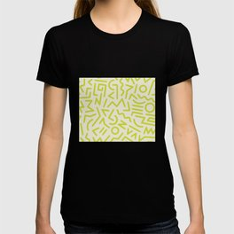 Chartreuse abstract line art 16 T-shirt