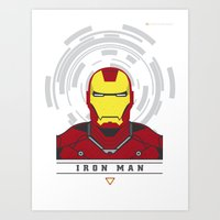 ironman Art Prints featuring IRONMAN by Nuthon Design