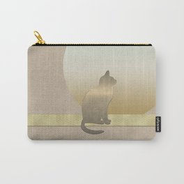 Chilled Gold Cat at Dawn Carry-All Pouch