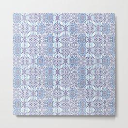 Blue Mandala Tiles Metal Print