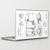 jeep Laptop & iPad Skins featuring Jeep: Byron Q. Jones Original Jeep Patent by Elegant Chaos Gallery