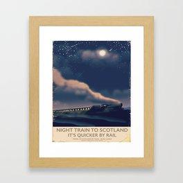Night train to Scotland Poster Framed Art Print