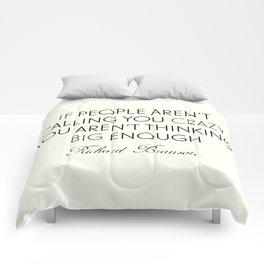 Richard Branson quote, think big, take risks, inspiring, motivational sentence Comforters