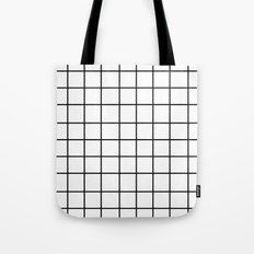 Grid (Black/White) Tote Bag