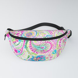 Paisley Watercolor Brights Fanny Pack