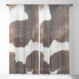 Brown Cowhide Sheer Curtain