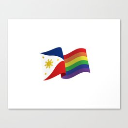 Philippine Rainbow Pride Flag Unofficial Canvas Print