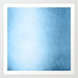 Blue Raspberry Shimmer Art Print