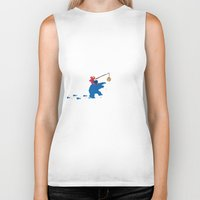 cookie monster Biker Tanks featuring Cookie Monster Donkey by OneWeirdDude