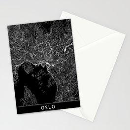 Oslo Black Map Stationery Cards