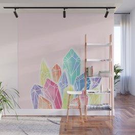 Crystals Pink Wall Mural