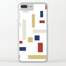Abstract Theo van Doesburg Composition VIII (White) The Three Graces Clear iPhone Case