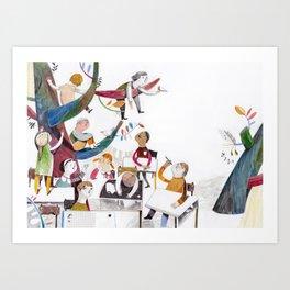 the classroom Art Print