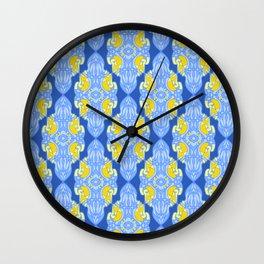 Patterns: Yellow Sages Wall Clock