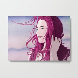 off in the distance, she dreams. Metal Print