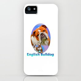 English Bulldog With Border iPhone Case