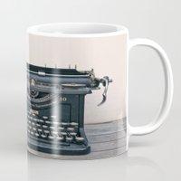 typewriter Mugs featuring Typewriter by Serena Jones Photography