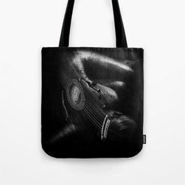 Guitar Woman Black and White Tote Bag