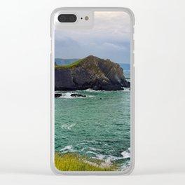 Screda Cove, Hartland Quay, Devon Clear iPhone Case