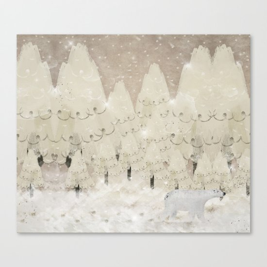 the winter wood Canvas Print