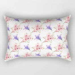 Seamless background with flowers Rectangular Pillow