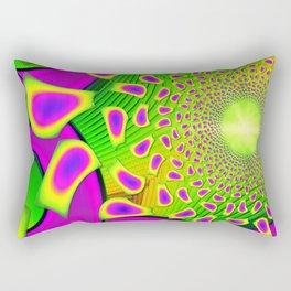 PsychoBerries 3d Glass Fractal Rectangular Pillow