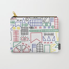 Basquiat & Volpi inspired pattern  Carry-All Pouch
