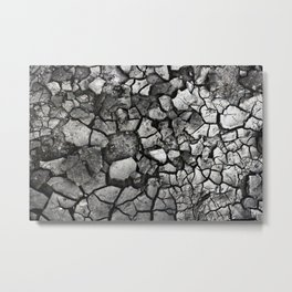 Broken Black Stone Metal Print