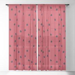 Watermelon Sugar Sheer Curtain