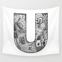Cutout Letter U Wall Tapestry