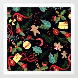 Christmas Pattern 8 Art Print