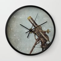 moonrise Wall Clocks featuring Moonrise by Eric Fan