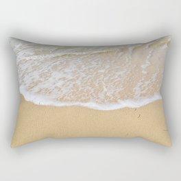 Beautiful wave surfing on a sandy beach Rectangular Pillow