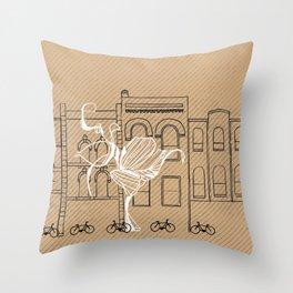 Queen Street Canvas Throw Pillow