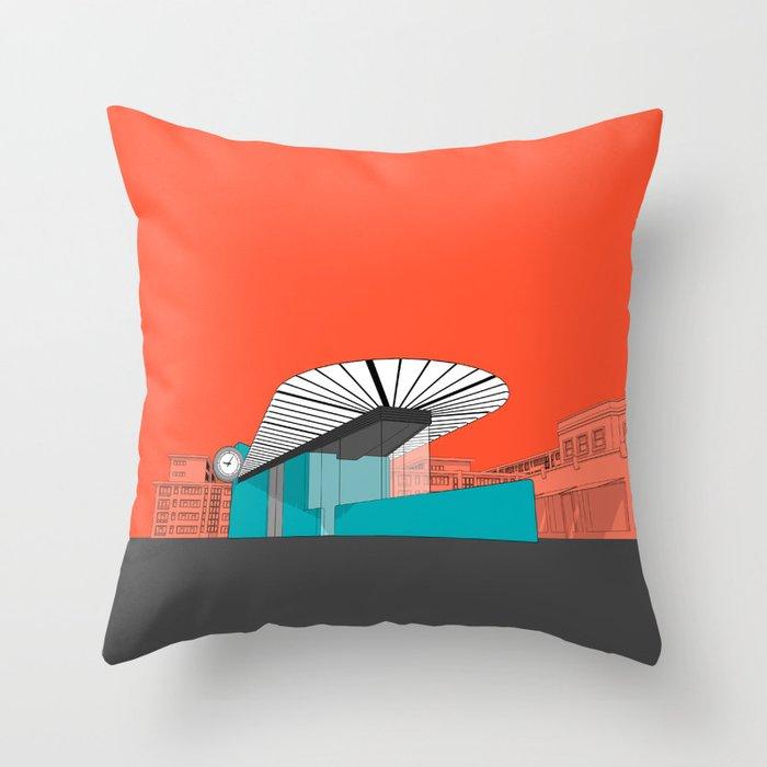 Turquoise Island Throw Pillow