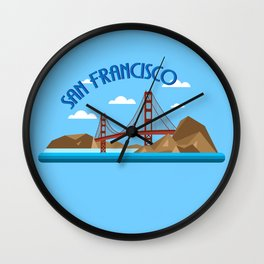 CITY BY THE BAY Wall Clock