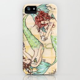 Pisces - The Merfolk  iPhone Case