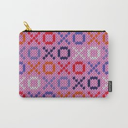 XOXO pattern - pink Carry-All Pouch
