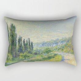 """Claude Monet """"The Road to Vétheuil"""" (1880) Rectangular Pillow"""