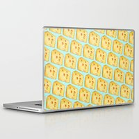 cheese Laptop & iPad Skins featuring Cheese Pattern by Kelly Gilleran