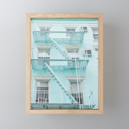 Blue in NYC Framed Mini Art Print