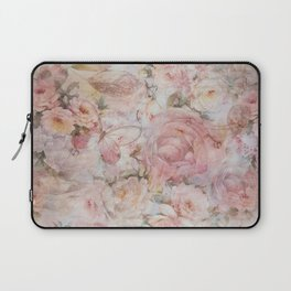 Vintage elegant blush pink collage floral typography Laptop Sleeve